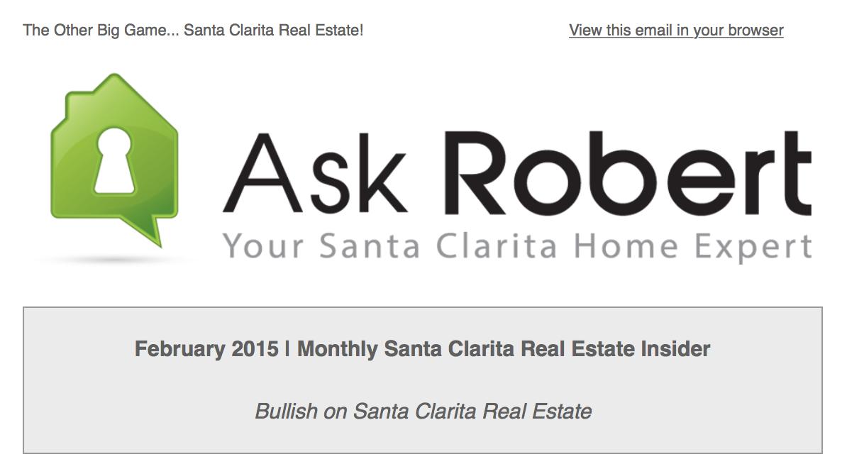Santa Clarita real estate newsletter