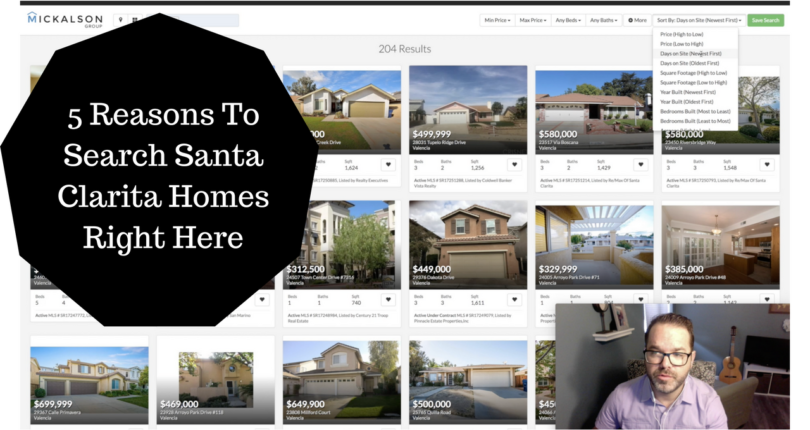 5 Reasons to Search Santa Clarita Homes On This Site